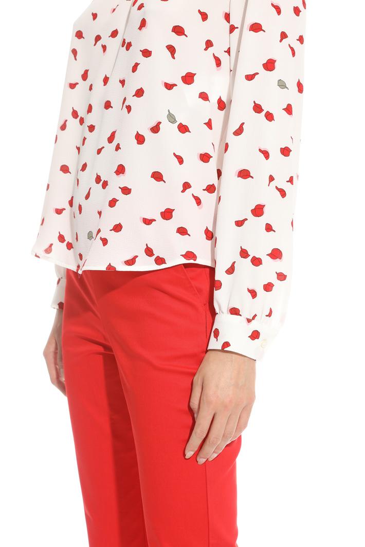 Blusa in crepe stampato Fashion Market