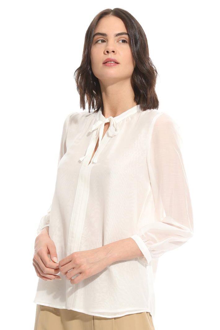 Blusa in voile cotone e seta Fashion Market
