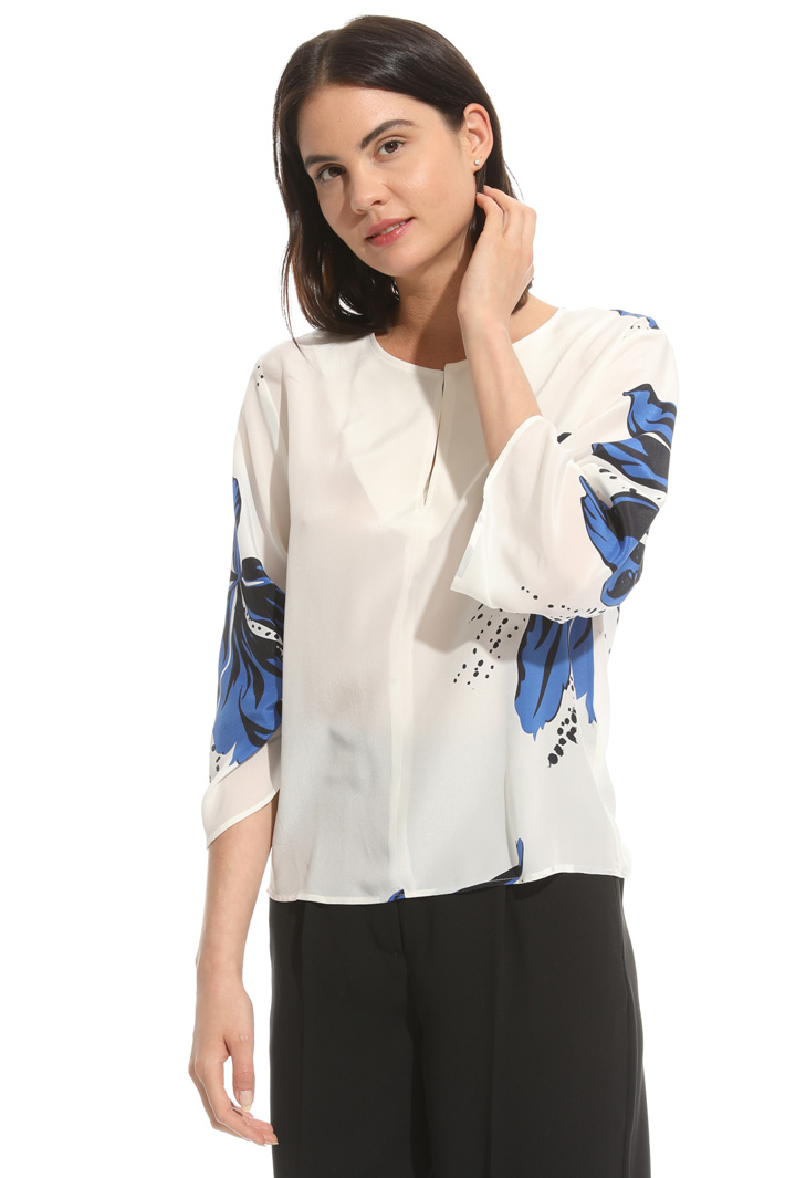 Blusa in crepe stampata Fashion Market