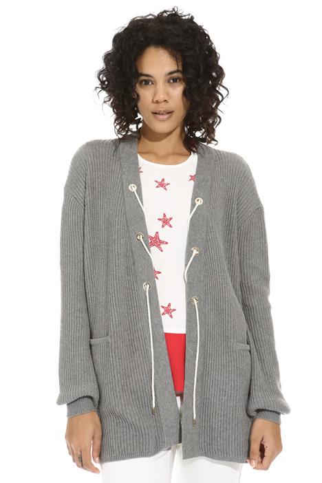 Cardigan con corda lurex Fashion Market