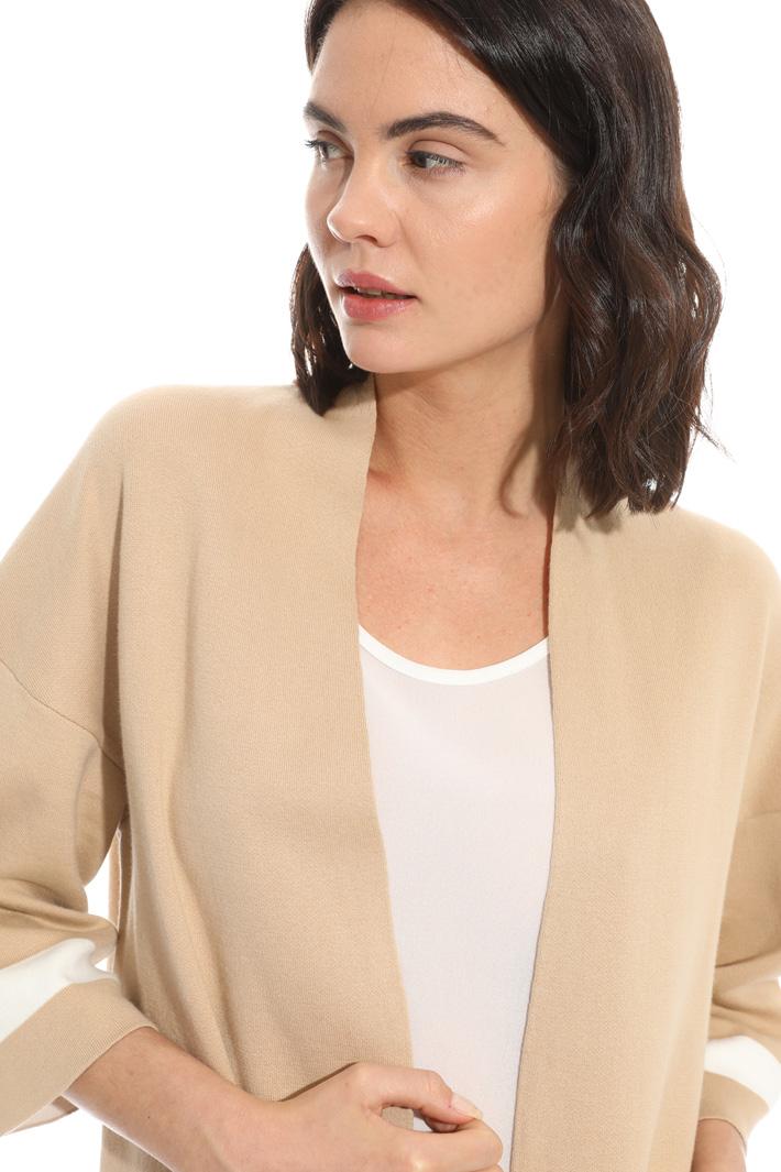 Cardigan in cotone con tasche Fashion Market