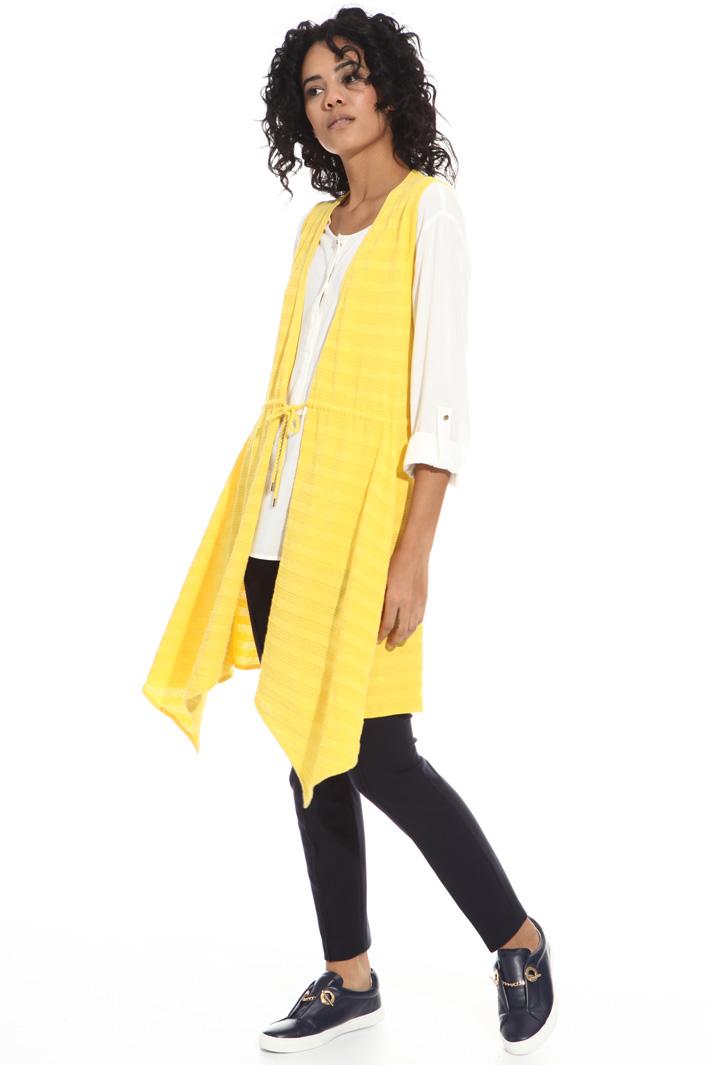 Gilet in cotone punto stuoia Fashion Market