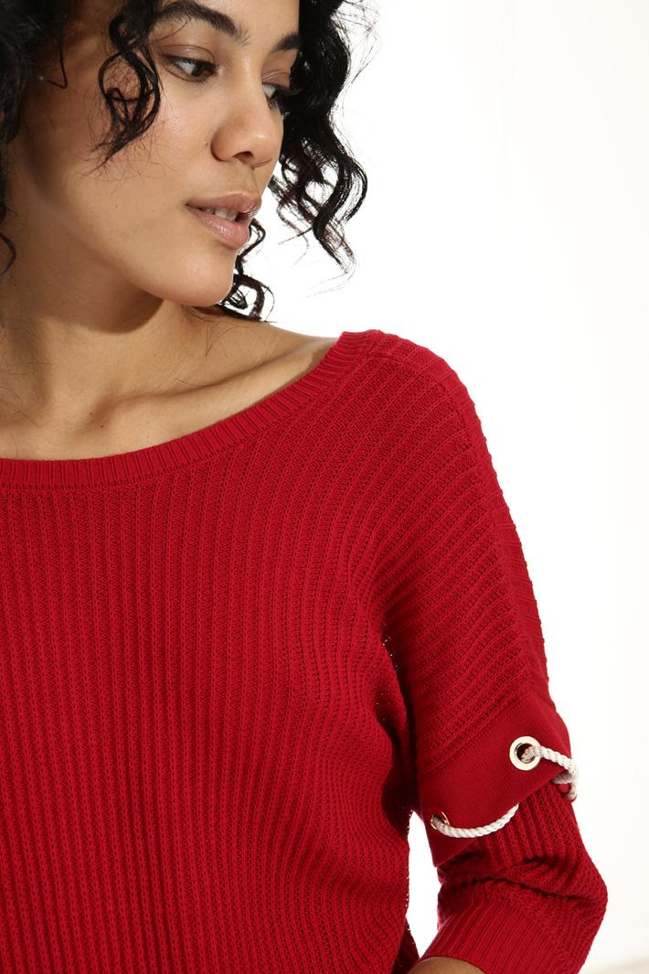 Maglia in cotone crepe a coste Fashion Market
