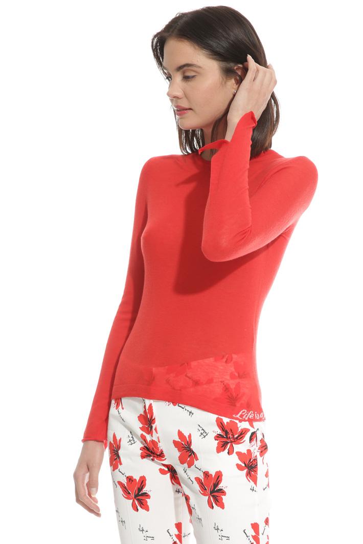 Maglia girocollo in lana Fashion Market