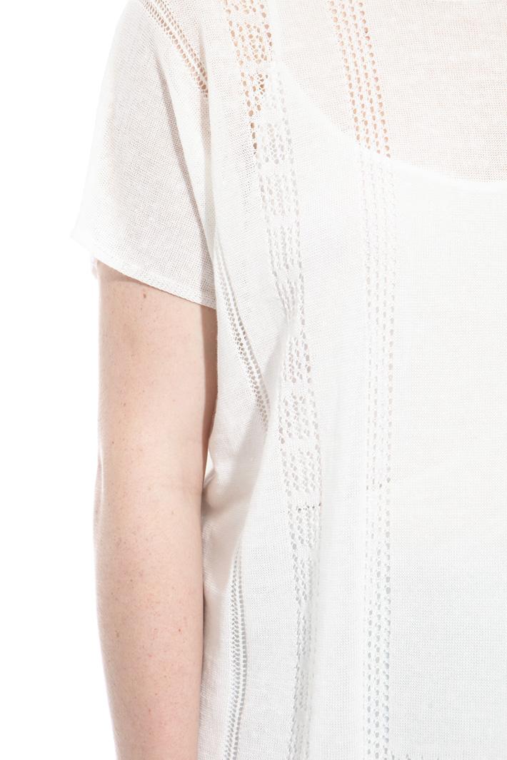Maglia in lino traforata Fashion Market