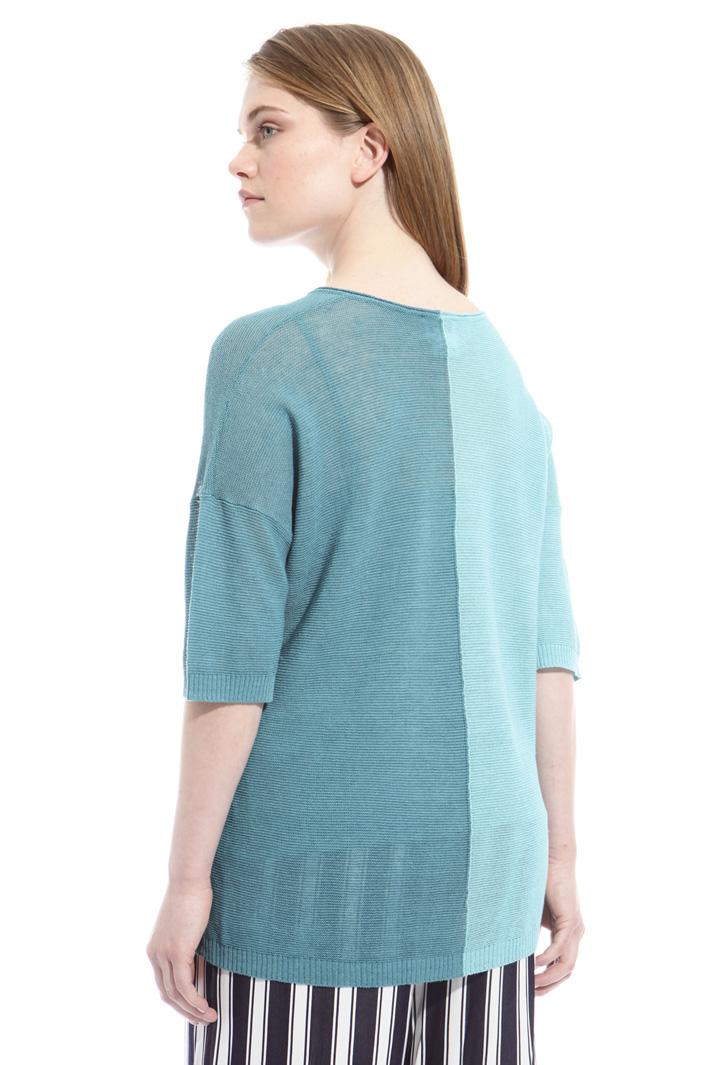 Maglia bicolor in misto lino Fashion Market