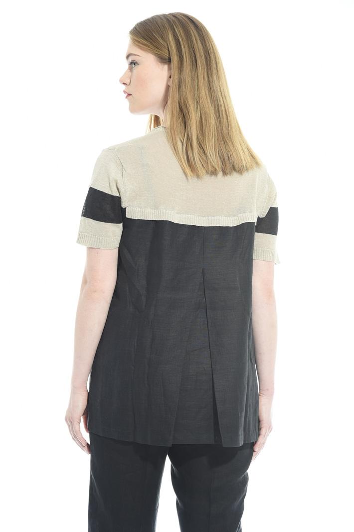 Maglia svasata in lino Fashion Market