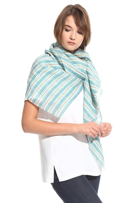 Sciarpa in ramiè stampato Fashion Market