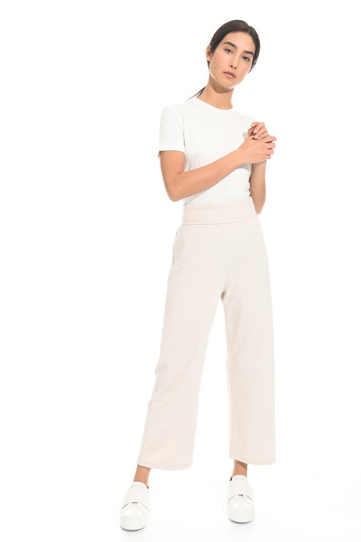 Pantalone dritto in cotone Fashion Market