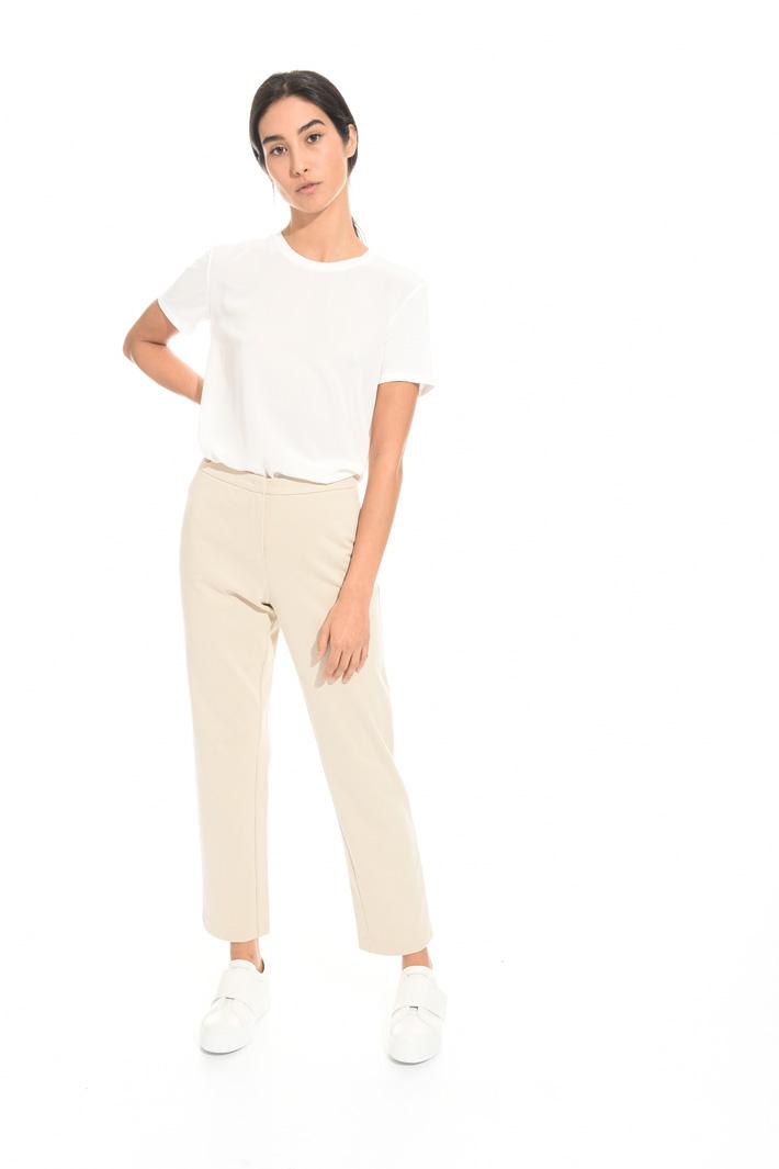 Pantalone in tessuto diagonale Fashion Market