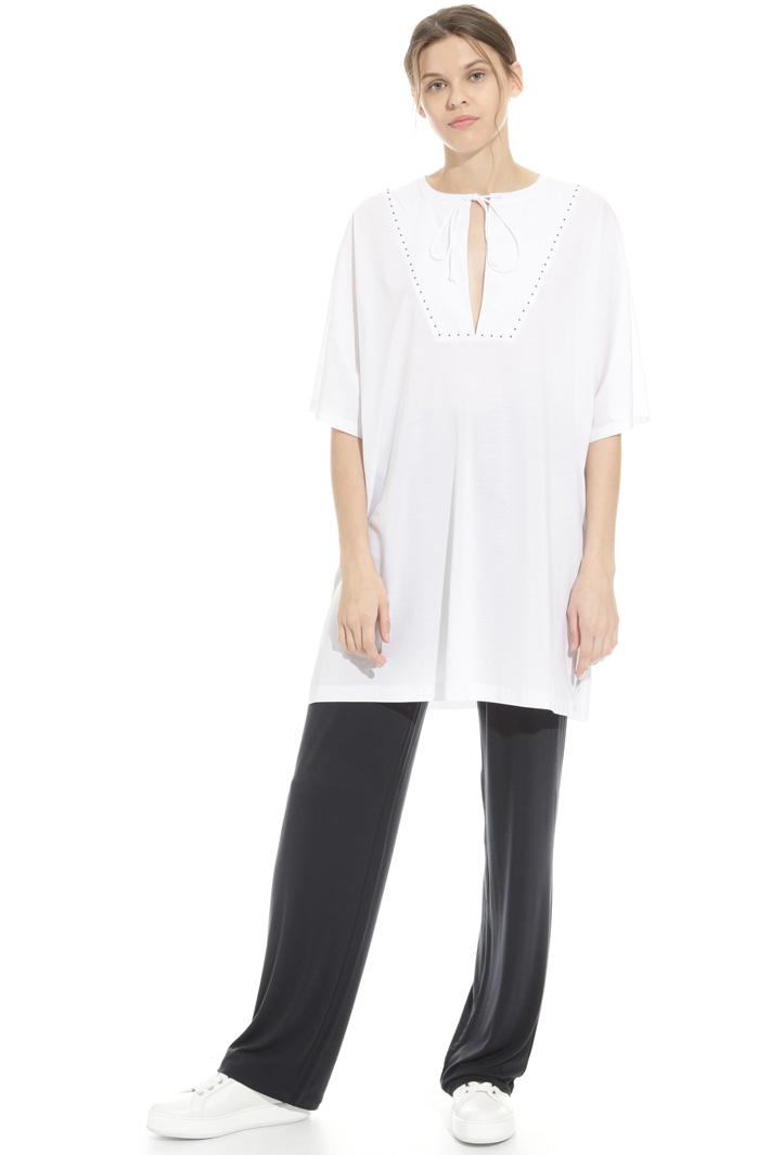 Casacca in cotone con perline Fashion Market