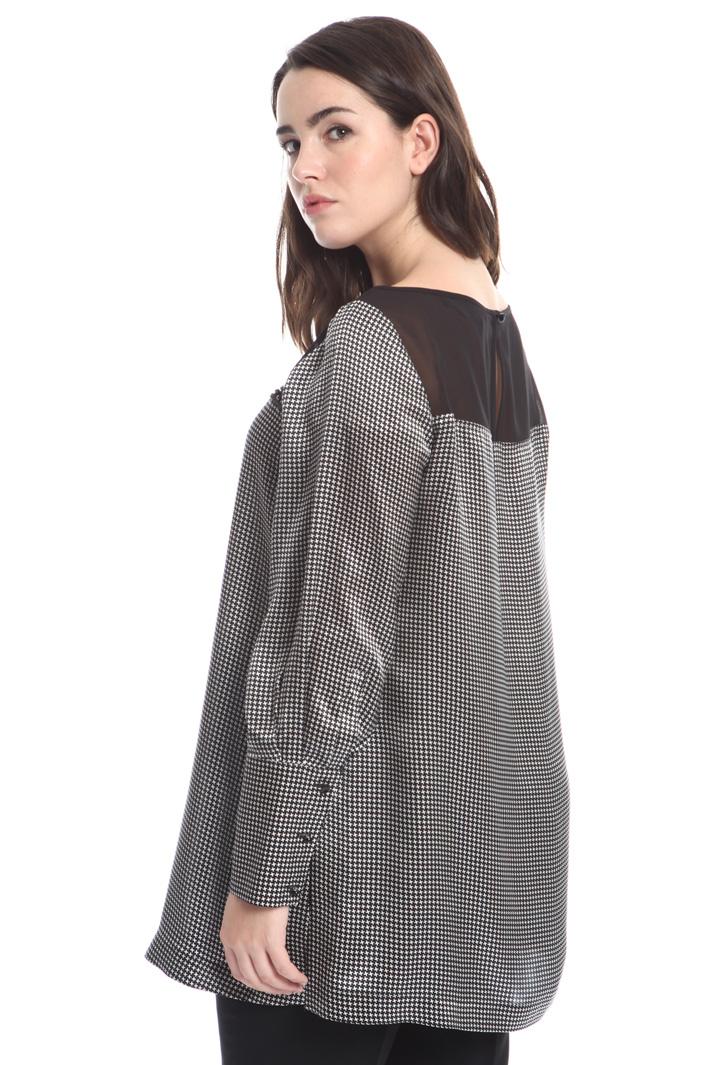 Casacca lunga in raso di seta Fashion Market