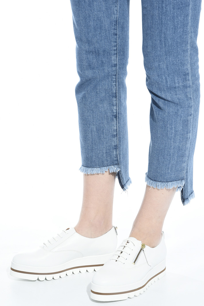 Stringata platform in pelle Fashion Market