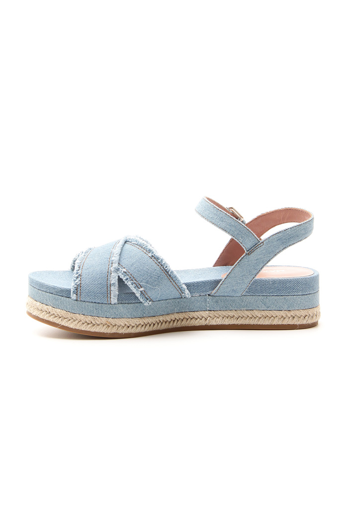 Sandalo in denim sfrangiato Fashion Market