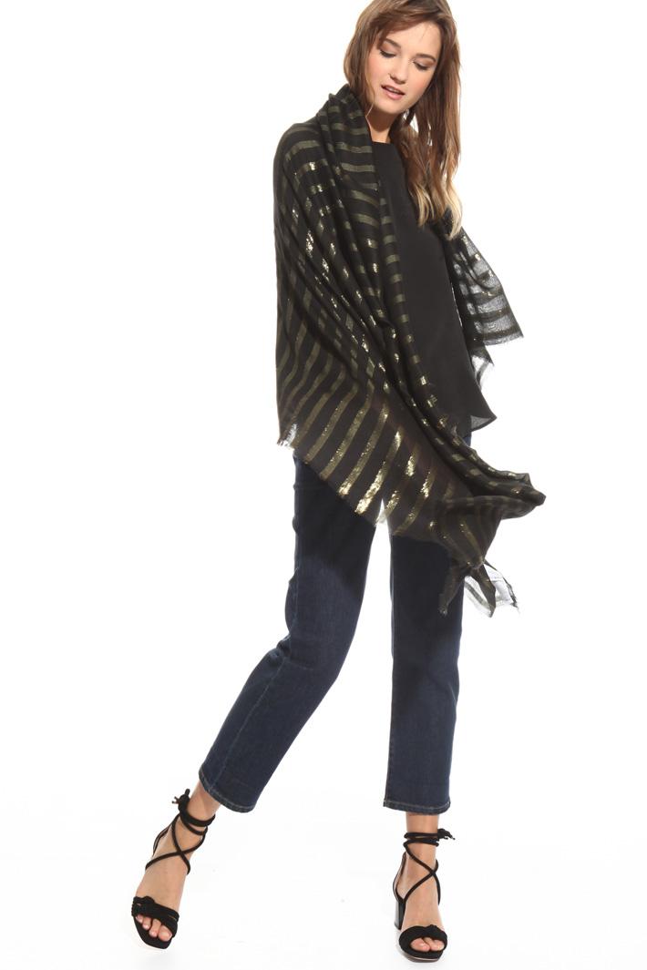 Stola con motivo lurex Fashion Market