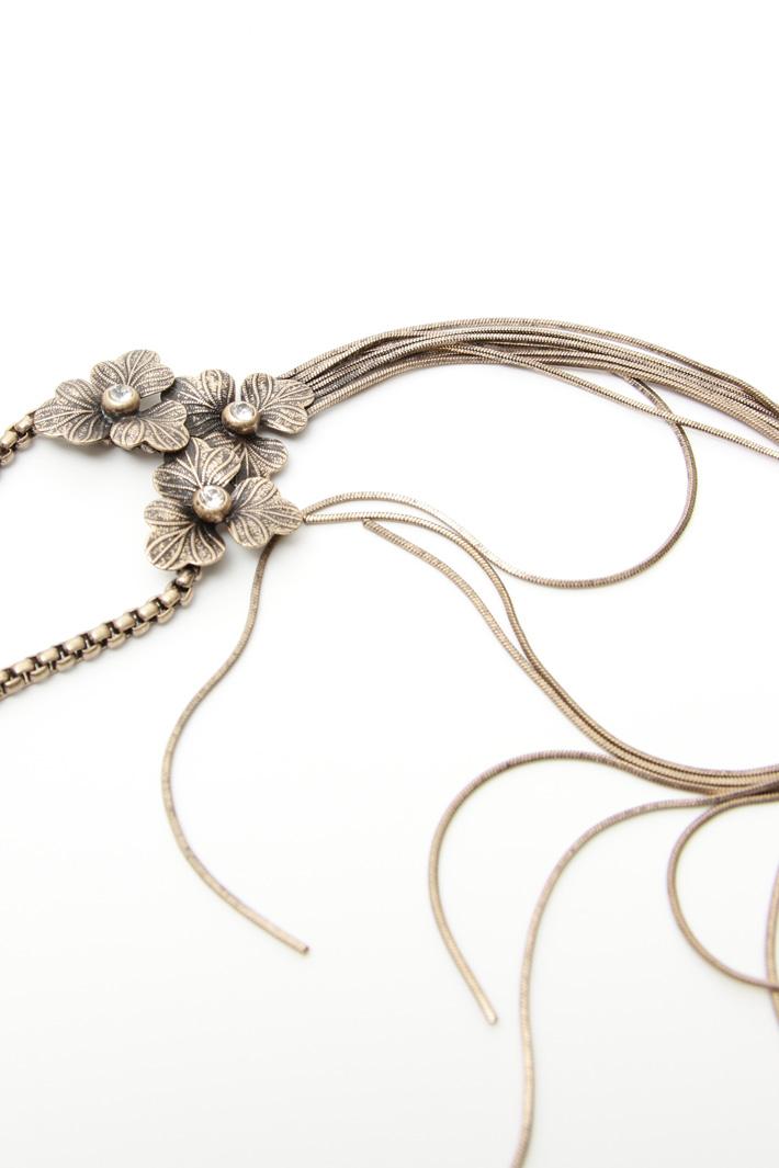 Collana in metallo con strass Fashion Market