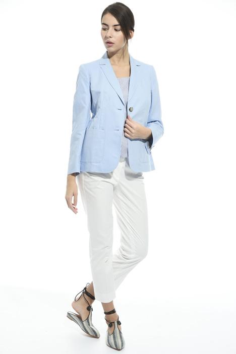 Blazer in cotone e lino Fashion Market