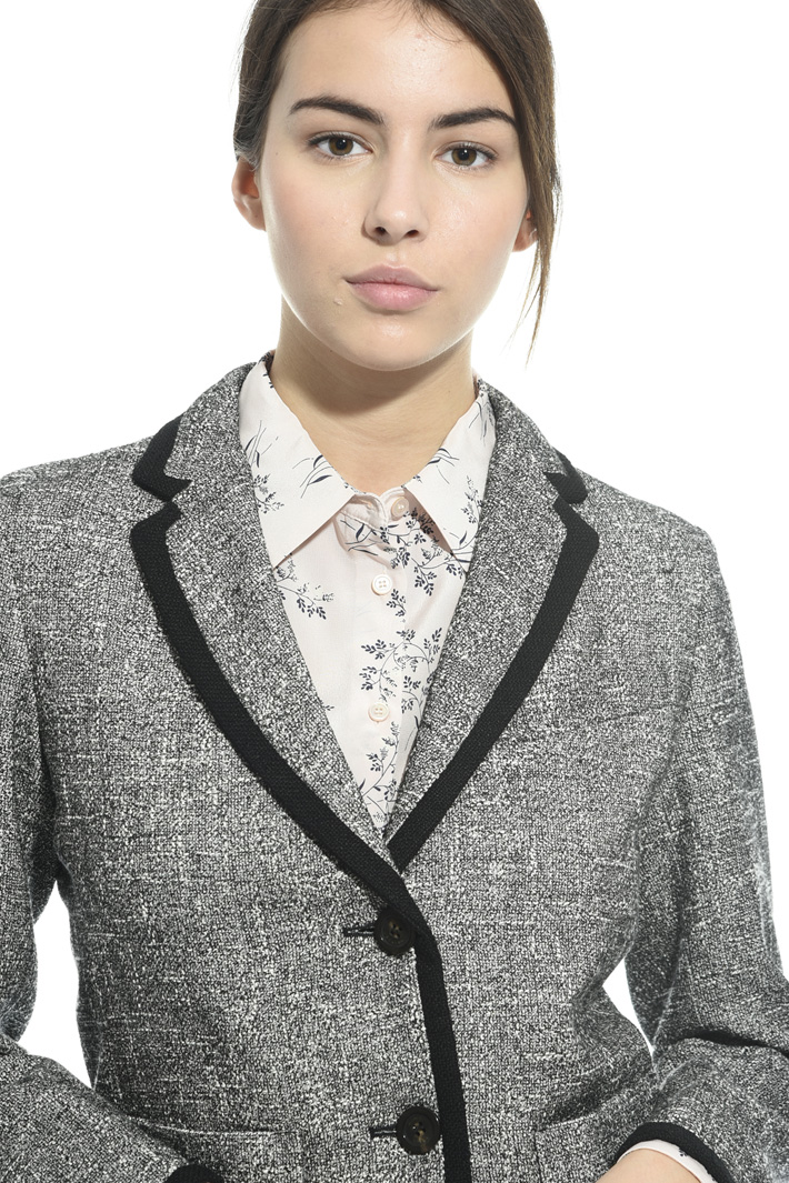 Blazer in stuoia di cotone Fashion Market