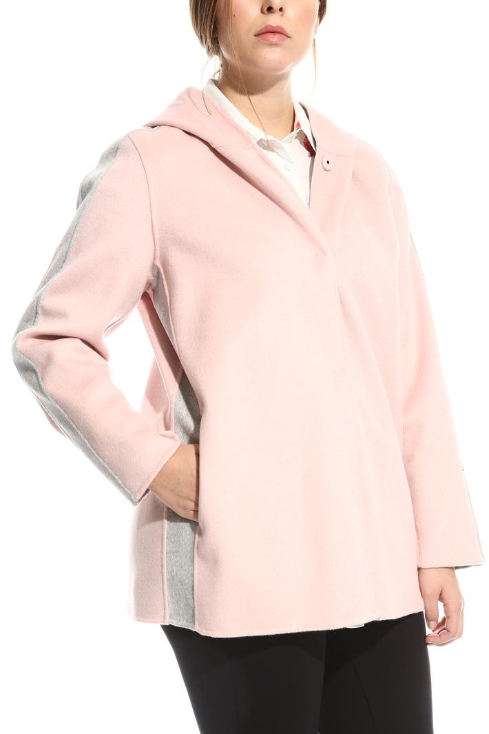Cappotto con cappuccio in lana Fashion Market