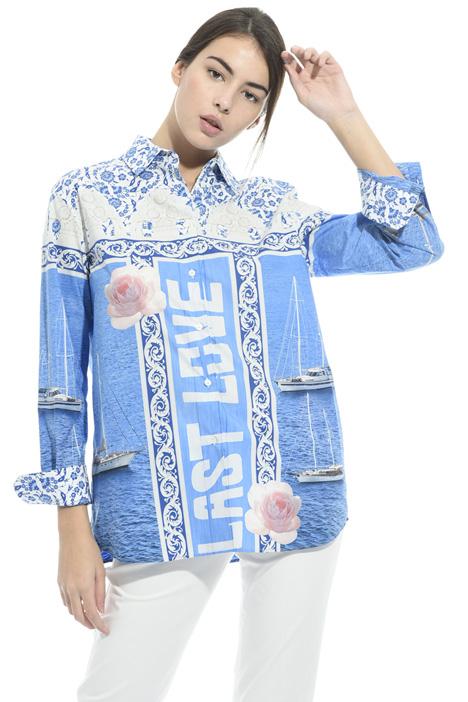 Camicia in popeline stampato Fashion Market