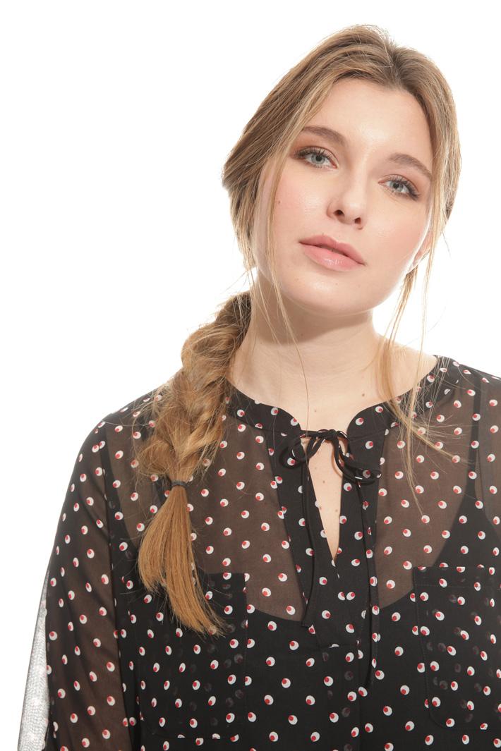 Blusa in georgette stampata Fashion Market