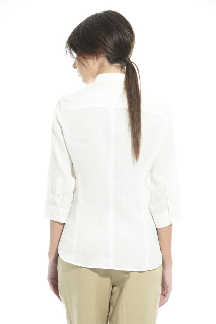 Camicia in lino con taschini Fashion Market