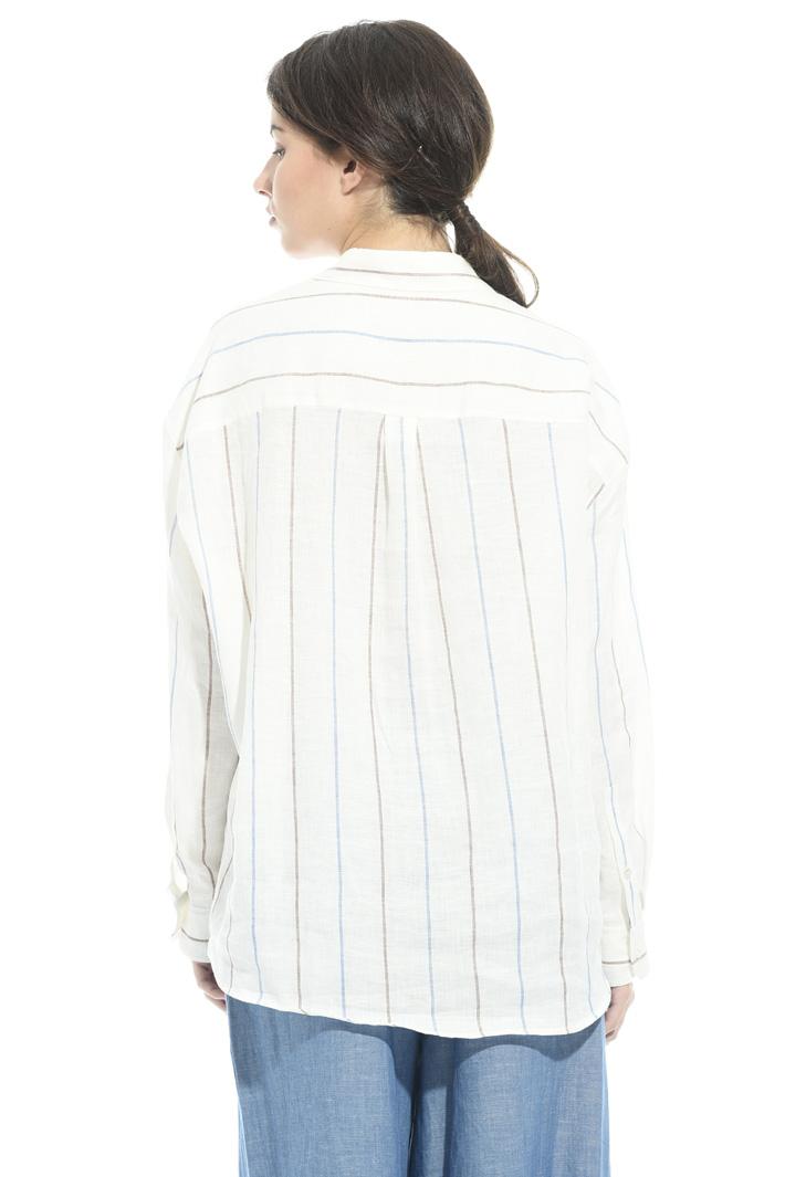 Camicia in lino tinto in filo Fashion Market