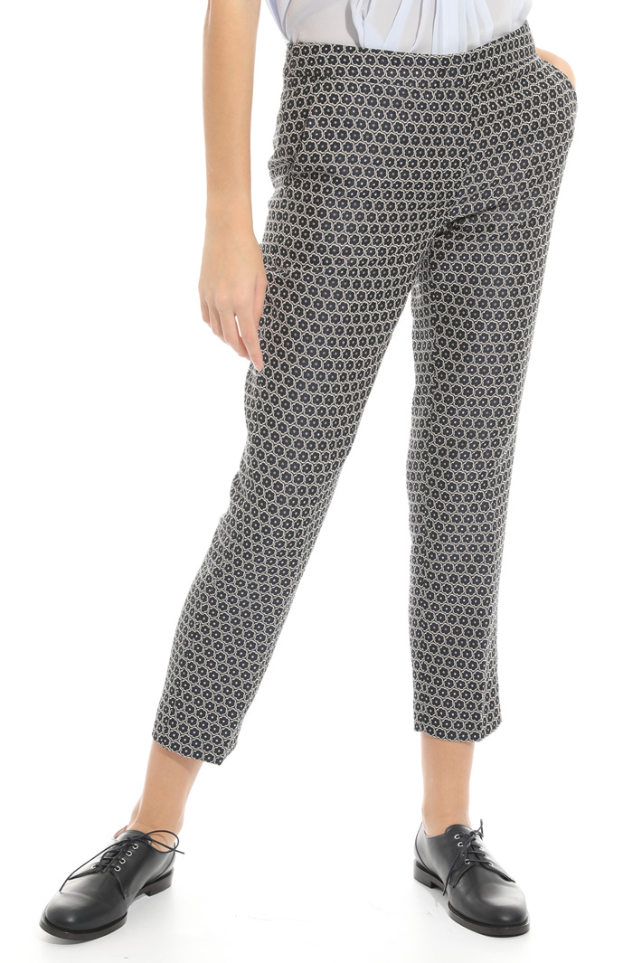 Pantalone in jacquard lamè Fashion Market