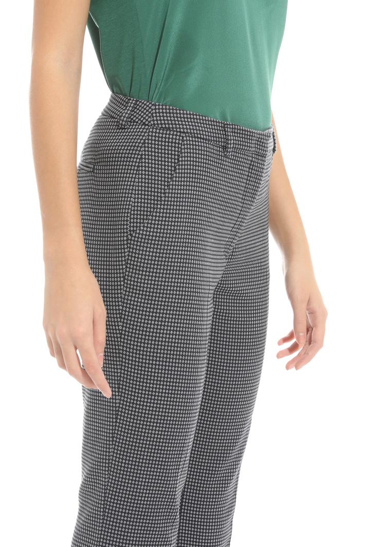 Pantalone con micro fantasia Fashion Market