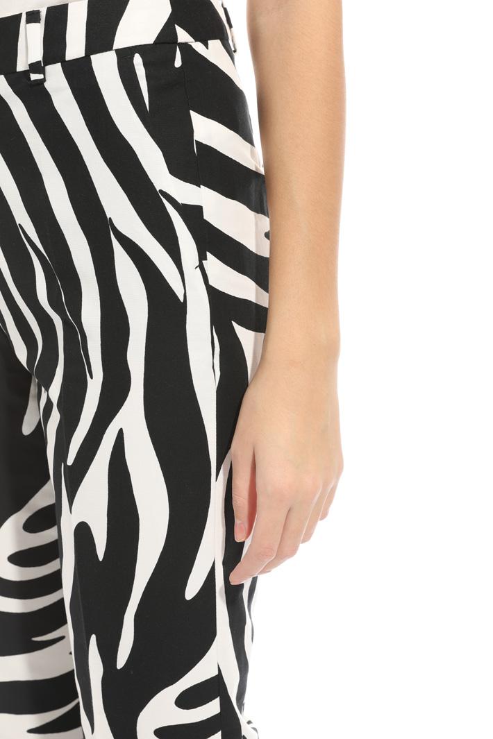 Pantalone in faille stampato Fashion Market