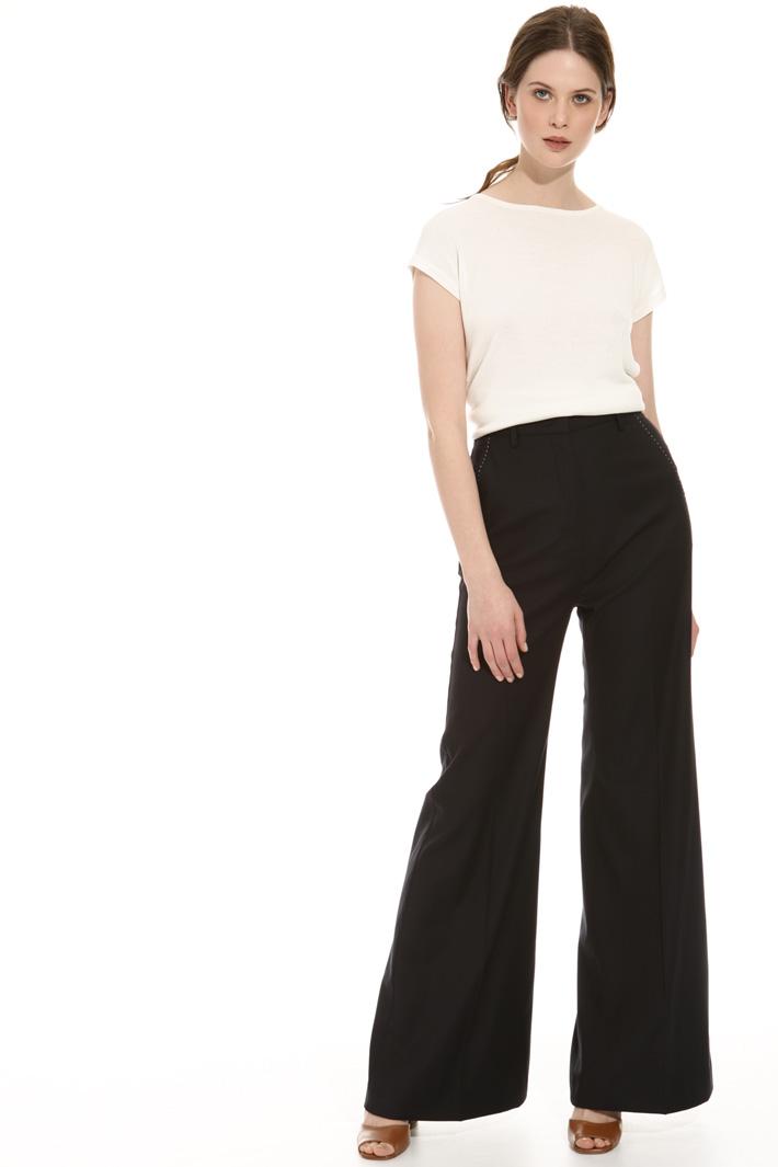 Pantalone palazzo misto lana Fashion Market
