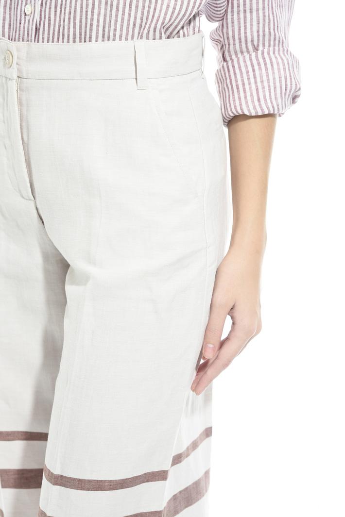 Pantalone in lino con righe Fashion Market
