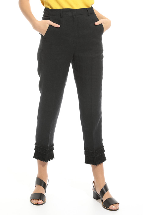 Pantalone con frange al fondo Fashion Market