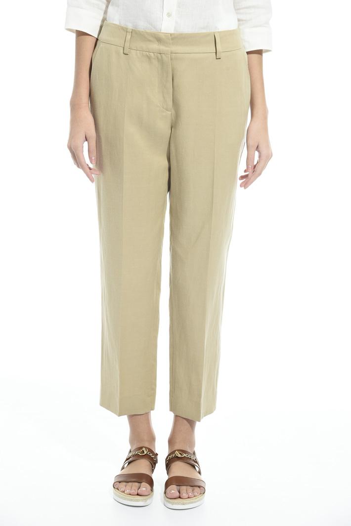 Pantalone in tela di lino Fashion Market