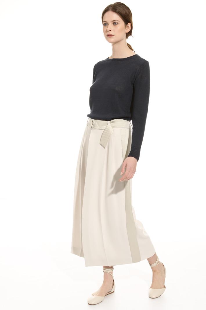 Pantalone ampio in cady fluido Fashion Market
