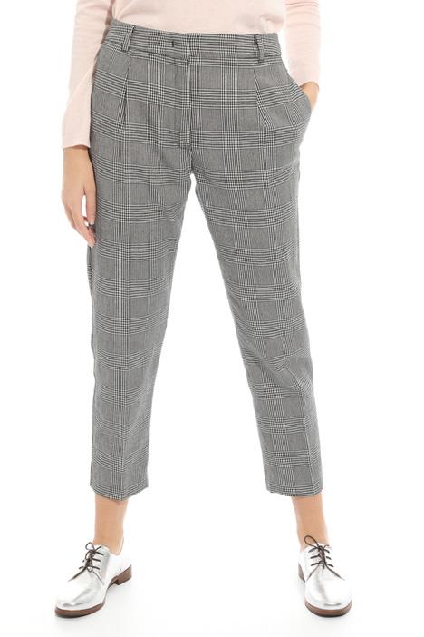 Pantalone in cotone e lino Fashion Market