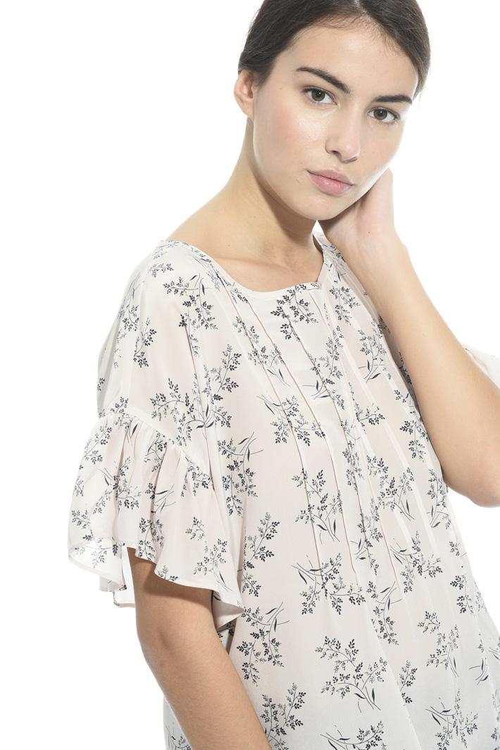 Blusa in seta stampata Fashion Market
