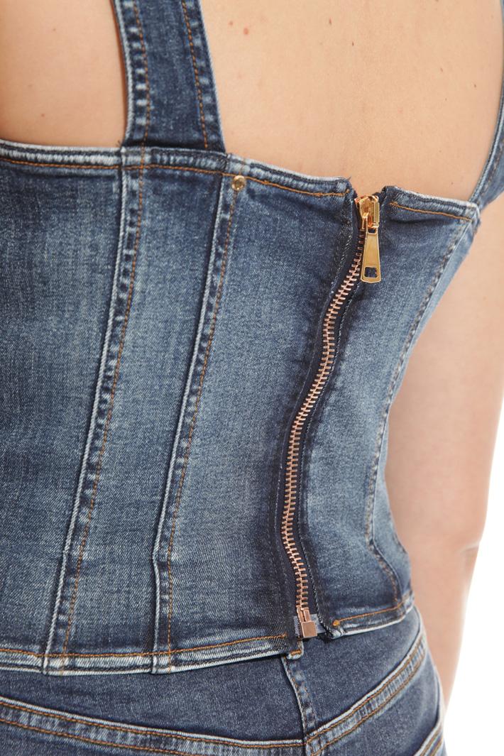 Top corto in denim Fashion Market