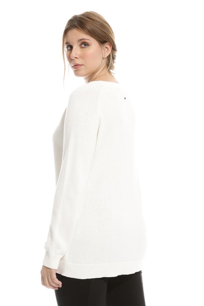 Maglia in cotone con ricamo Fashion Market