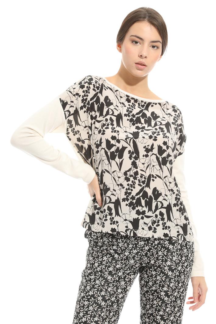 Maglia in mix di materiali Fashion Market