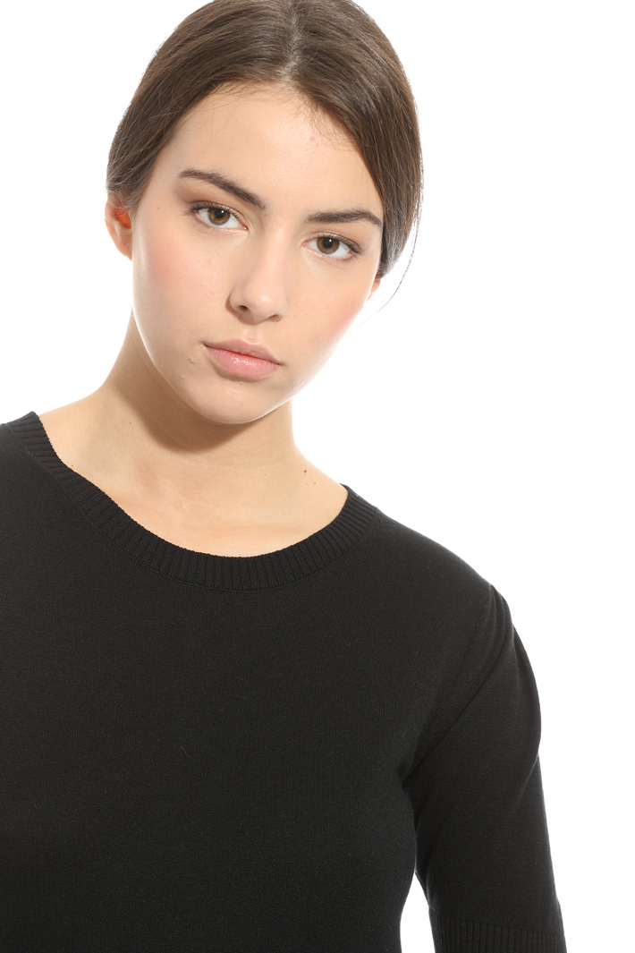Maglia con pannello in seta Fashion Market