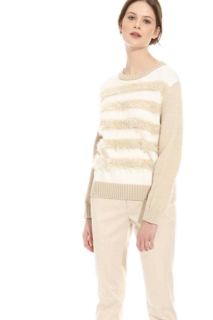 Maglia con piume a decoro Fashion Market