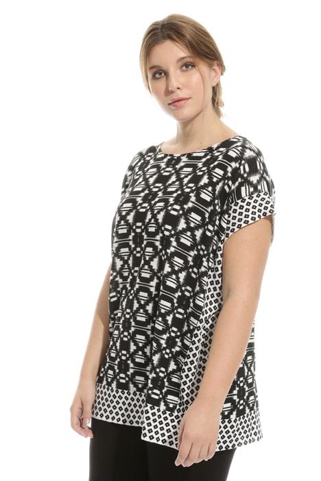 Casacca in puro lino stampato Fashion Market