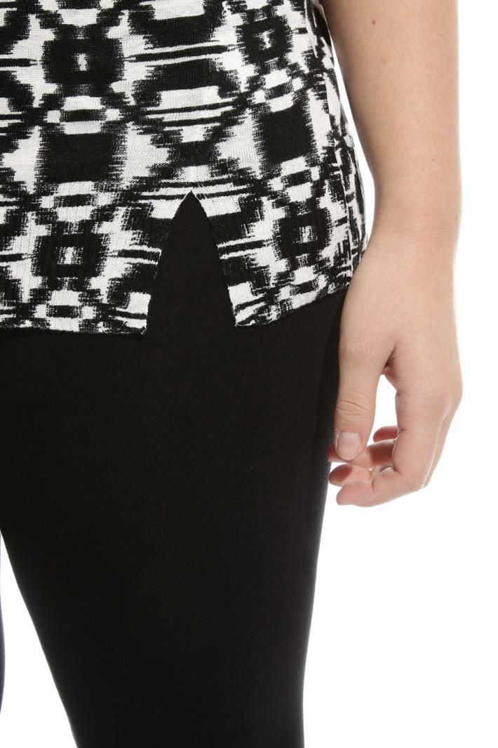 Maglia in puro lino stampato Fashion Market