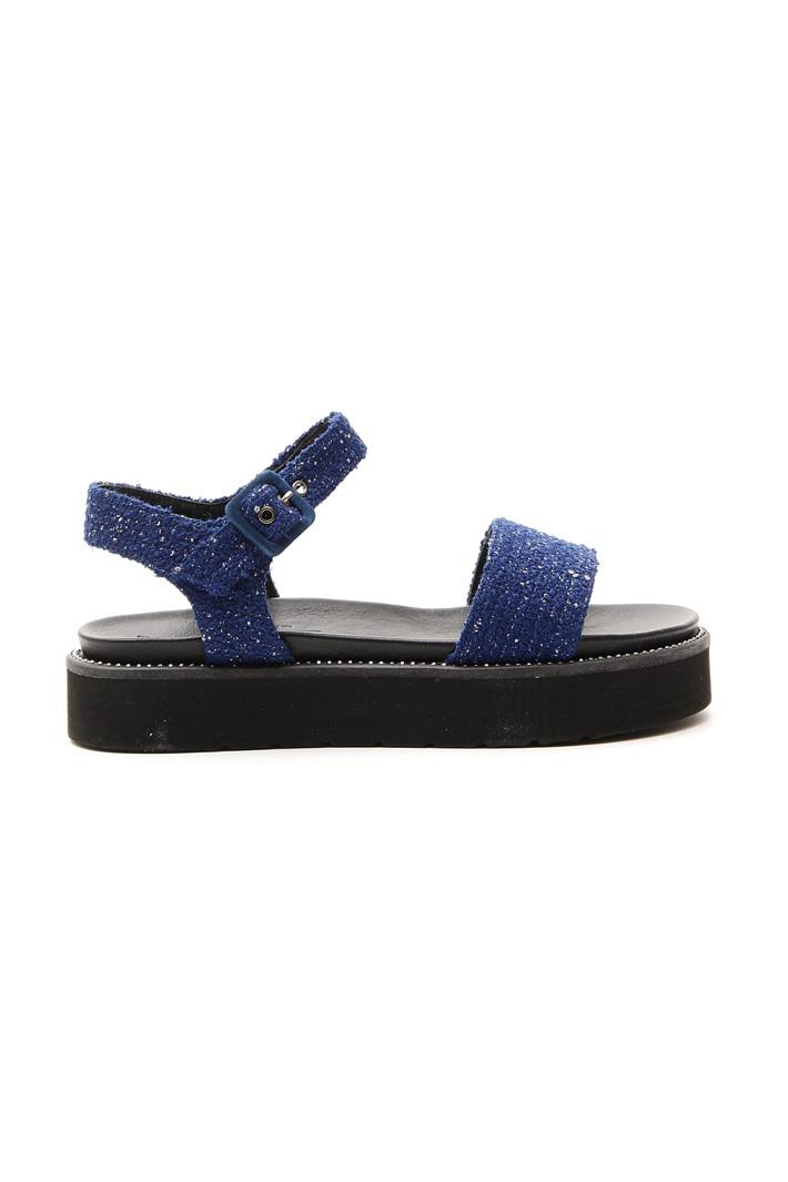 Sandalo platform in tessuto Fashion Market