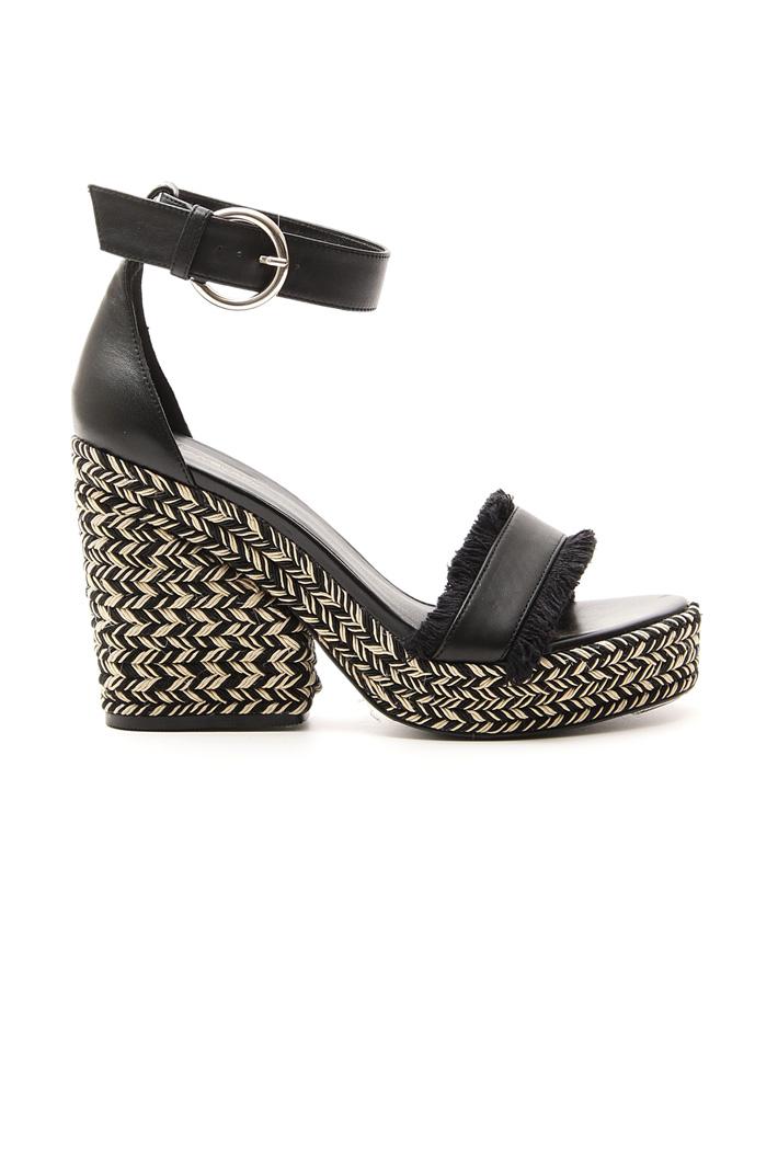 Sandalo con tacco zeppa Fashion Market