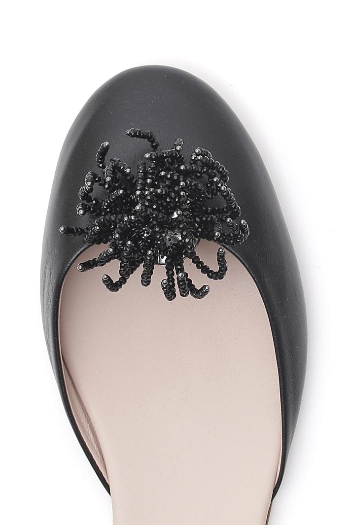 Ballerina in pelle liscia Fashion Market