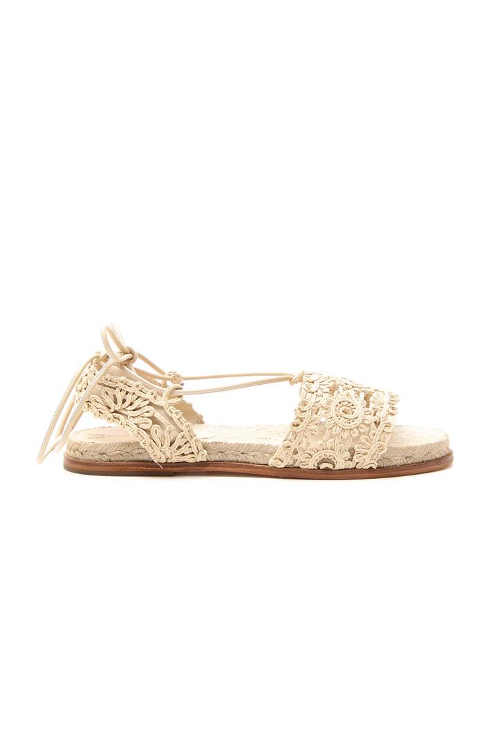 Sandalo flat effetto crochet Fashion Market