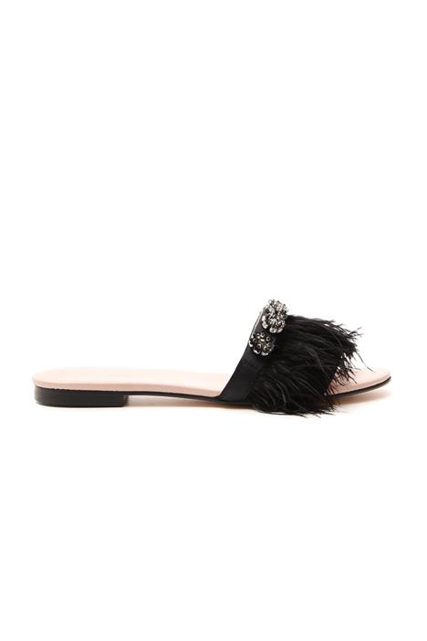 Sandalo flat con piume Fashion Market