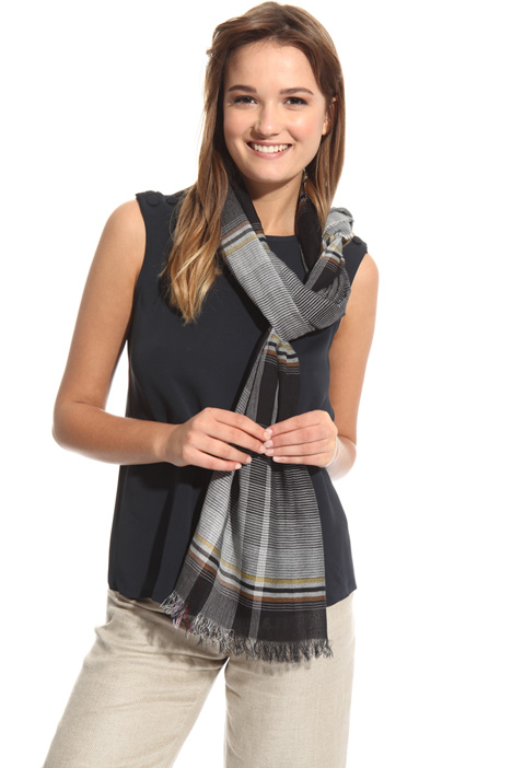 Sciarpa in cotone tinto filo Fashion Market
